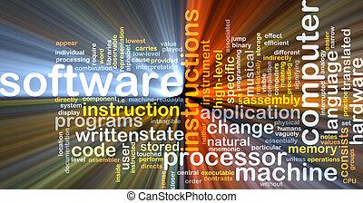 백열하는 것, 개념, 배경, 소프트웨어