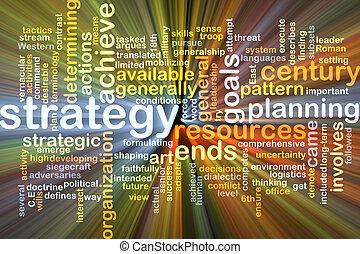 백열하는 것, 개념, 배경, 전략