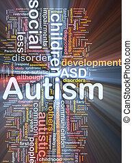 백열하는 것, 개념, autism, 배경