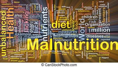 백열하는 것, 개념, malnutrition, 배경