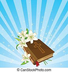 백합, 성경, 배경, 꽃