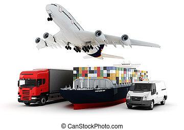 뱃짐, 개념, 넓게, 세계, 수송, 3차원