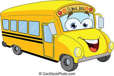 버스, 학교, 만화