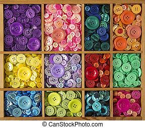 버튼, 다채로운