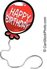 벡터, 기구, 생일, 행복하다