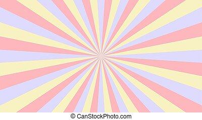 벡터, 떼어내다, rays., 황색, starburst, 기치, illustration., 배경, 빨강