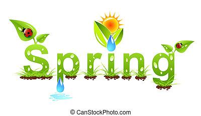 벡터, 봄, 개념, 낱말