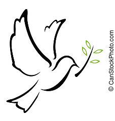 벡터, 비둘기, 평화