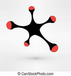 벡터, business., 성장, 선, 접속된다, 배경, 떼어내다, infographic, metaball., illustration.