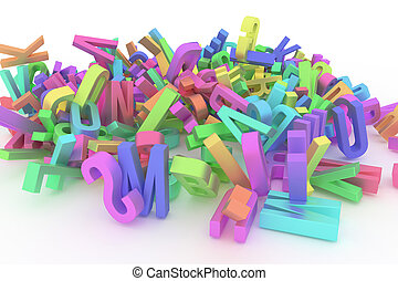 벽지, 웹 페이지, 선, 알파벳, &, stack., abc., 혼란, 직물, 디자인, 배경., 문자로 쓰는, 유치원, 편지, 배우다, 카탈로그, 또는