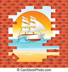벽, 바다 전망