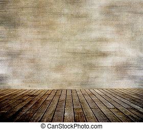 벽, paneled, 나무, grunge, 바닥