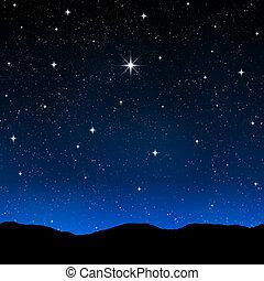 별을 아로새기는 하늘, 밤