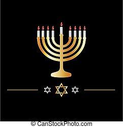 별, 축하, hanukkah, 유태인 상징, symbol-, david, 휴일, 행복하다