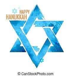 별, hanukkah, david, 유태인, 배경, 매다는 데 쓰는, 휴일, 행복하다