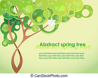 봄, 떼어내다, 꽃, 나무