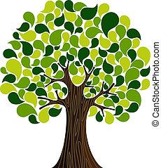 봄, 떼어내다, 나무, 시간