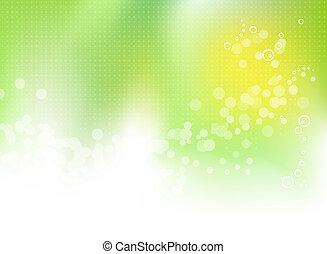 봄, 떼어내다, 녹색의 배경