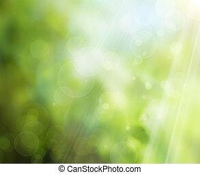 봄, 배경, 자연, 떼어내다