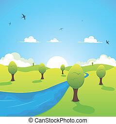 봄, 여름, 나는 듯이 빠른, 또는, 강, 제비