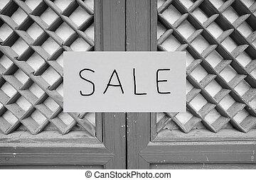 부동산, 집, 판매 표시, 정면