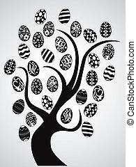 부활절 달걀, 나무