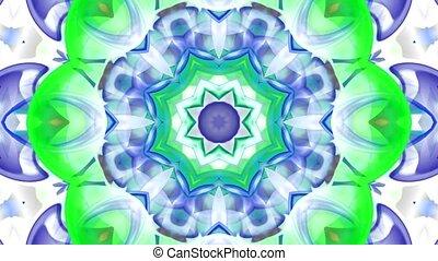 불교, 꽃, 공상, 유리, 패턴