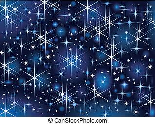 불꽃, 하늘, starbright, 크리스마스