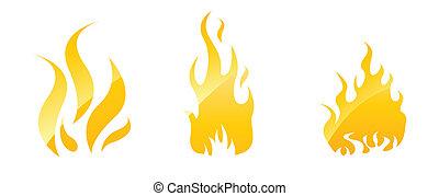 불, 광택 인화, 아이콘