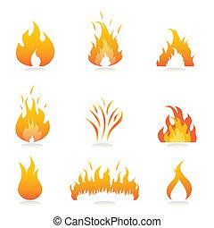 불, 은 타오른다, 표시