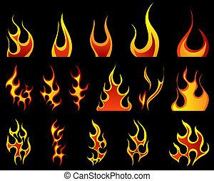 불, 패턴, 세트