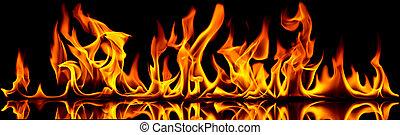 불, flames.