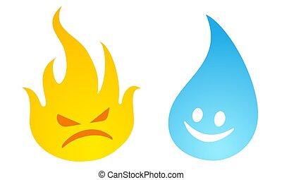 불, water.