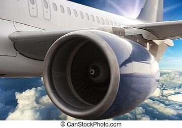 비행기, 터빈, 모터