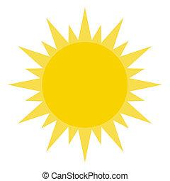 빛나는, 태양, 황색