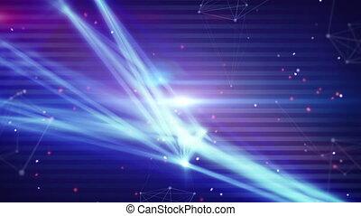 빛, 기술, 네트워크, 스트라이프