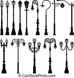 빛, 램프, 거리, 가로등 기둥, 우편