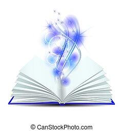빛, 책, 열려라, 마술