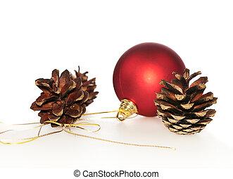 빨강 공, pinecones