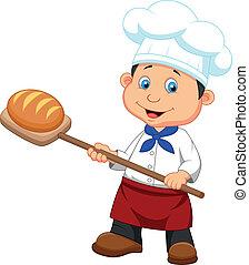 빵 굽는 사람, 만화, bread