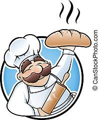 빵 굽는 사람, 삽화