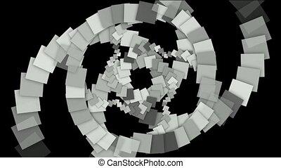 사각형, 종이, 은 형성했다, 터널, 소용돌이