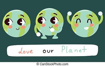사랑, 귀여운, 행성, 우리