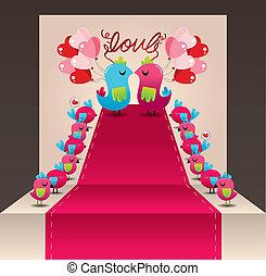 사랑 새, 카드, 결혼식