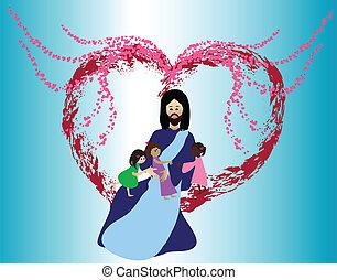 사랑, 아이들, 예수