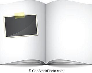사진, 책, 열려라, 공백