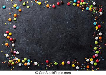 사탕, 다채로운, 구조