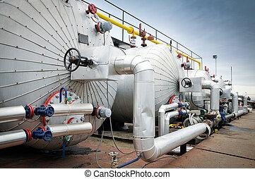 산업, 기름, 가스