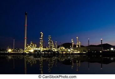 산업, 석유 화학 제품, 일몰