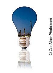산업, 석유 화학 제품, bulb.